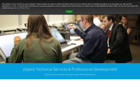 Screenshot of Services Page zspace.com - Services | zSpace - captured Oct. 19, 2018