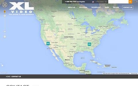 Screenshot of Contact Page xlvideo.com - CONTACT US  - XL Video - captured Oct. 29, 2014