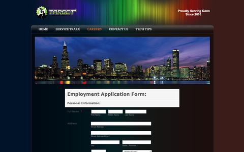 Screenshot of Jobs Page targetautollc.com - Careers - captured Oct. 18, 2018