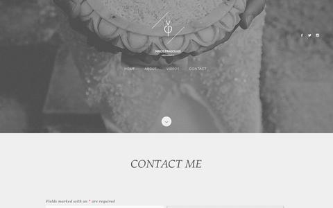 Screenshot of Contact Page nikosfragoulis.com - Contact me | Nikos Fragoulis - captured June 3, 2016
