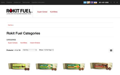 Screenshot of Products Page rokitfuel.com - Rokit Fuel - captured Jan. 12, 2016