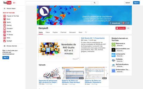 Screenshot of YouTube Page youtube.com - Danysoft  - YouTube - captured Oct. 25, 2014