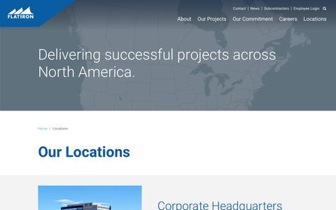 Screenshot of Locations Page flatironcorp.com - Locations Archive - Flatiron - captured Nov. 25, 2016