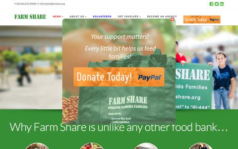 Screenshot of Home Page farmshare.org - Farmshare | - captured Feb. 9, 2016