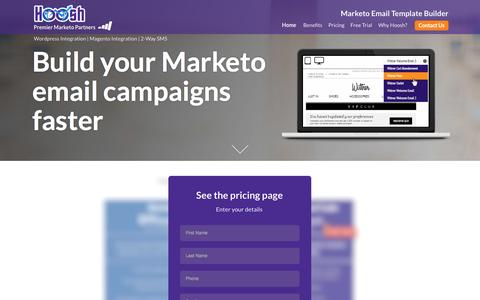 Screenshot of Pricing Page hooshmarketing.com.au - Marketo Email Templates - Hoosh Marketing - captured Dec. 16, 2016