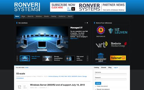 Screenshot of Login Page ronver.com - Ronver Systems | The data storage people - captured Oct. 7, 2014
