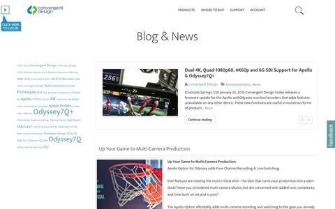 Screenshot of Blog convergent-design.com - Convergent Design Blog/News - Convergent Design Blog - captured July 16, 2016