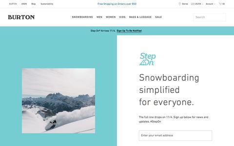 Screenshot of Signup Page burton.com - Step On® Boots & Bindings   Burton Snowboards - captured Oct. 17, 2019