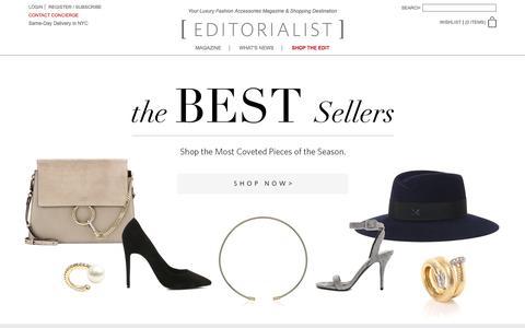 Screenshot of Home Page editorialist.com - Editorialist | Luxury Fashion Accessories Magazine & Online Store - captured Dec. 17, 2015