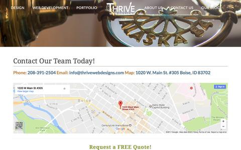 Contact Our Boise Web Design Team! | Thrive Web Designs of Idaho