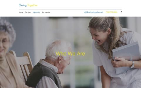 Screenshot of About Page caring-together.net - About Us | Caring Together - captured Sept. 27, 2018