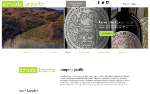 Screenshot of About Page crushimports.com - About Us | Crush Imports - captured May 23, 2017