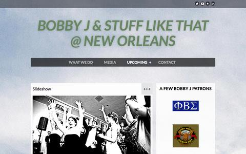 Screenshot of Services Page bobbyj.biz - Bobby J & Stuff Like That Band - APPLAUSE - captured Oct. 27, 2014