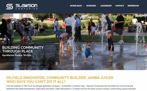 Screenshot of Home Page slawsoncompanies.com - Slawson Companies - Community Building and Development - captured Sept. 21, 2018