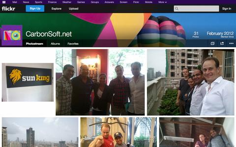 Screenshot of Flickr Page flickr.com - Flickr: CarbonSoft.net's Photostream - captured Oct. 22, 2014