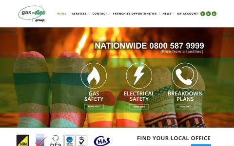 Screenshot of Home Page gas-elec.co.uk - Gas & Electric Home Safety Reports | Gas & Electric Landlord Protection - captured July 25, 2018
