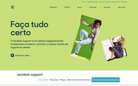 Screenshot of Support Page zendesk.com.br - Software de tickets e atendimento ao cliente com Zendesk Support - captured Aug. 4, 2018