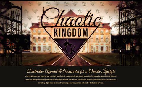 Screenshot of Home Page chaotickingdom.com - Chaotic Kingdom - captured Sept. 29, 2014