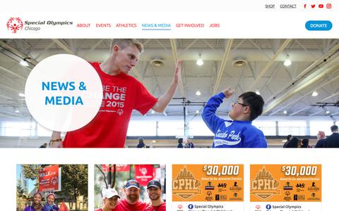 Screenshot of Press Page sochicago.org - News - Special Olympics Chicago - captured Oct. 19, 2018