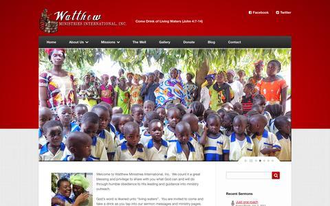 Screenshot of Home Page watthew.org - Watthew Ministries International, Inc. - captured Oct. 3, 2014