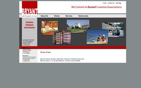 Screenshot of Privacy Page jhbryant.com - J.H. Bryant Construction» - captured Nov. 18, 2016
