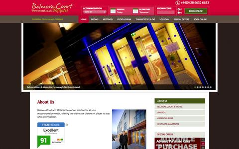 Screenshot of About Page motel.co.uk - Belmore Court Hotel and Motel | 4 Star Guest Accommodation Hotel Fermanagh - captured Oct. 5, 2014