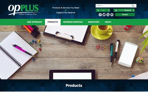 Screenshot of Products Page opplus.com - Products - Office Products Plus - captured March 1, 2016