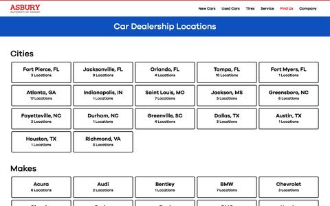 Car Dealership Locations | Car Dealer Near Me