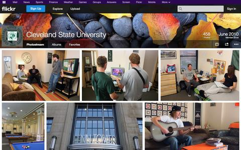 Screenshot of Flickr Page flickr.com - Flickr: Cleveland State University's Photostream - captured Oct. 22, 2014