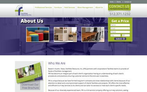 Screenshot of About Page facilitiesresourceinc.com - About Us - Facilities Resource, Inc. - captured Sept. 30, 2014