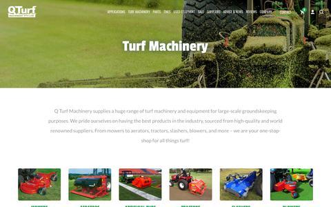 Screenshot of Products Page qturf.com.au - Turf Machinery Ɩ Q Turf Machinery Ɩ Brisbane   Quality Turf Products - captured Sept. 26, 2018