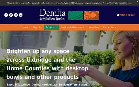 Screenshot of Products Page demita.co.uk - Our Products | Desktop Bowls | Demita Horticultural Services - captured Nov. 13, 2018