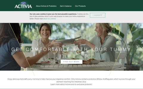 Screenshot of Login Page activia.com.au - Get in balance | Danone Activia - captured June 28, 2018