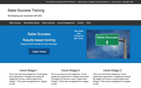 Screenshot of Home Page sales-success-training.com - Sales Success Training - captured Dec. 20, 2015