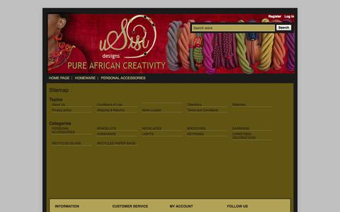 Screenshot of Site Map Page usisicraft.co.za - Sitemap | Usisi Designs - captured Oct. 26, 2014