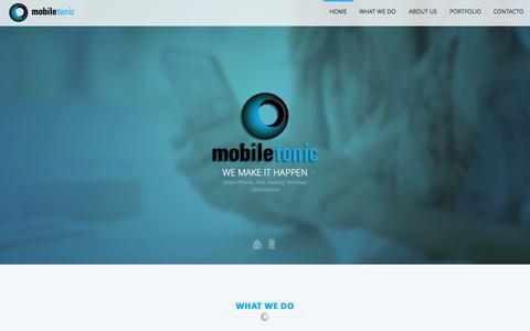 Screenshot of Home Page mobile-tonic.com - Mobile Tonic :: We make it happen - captured Jan. 29, 2015
