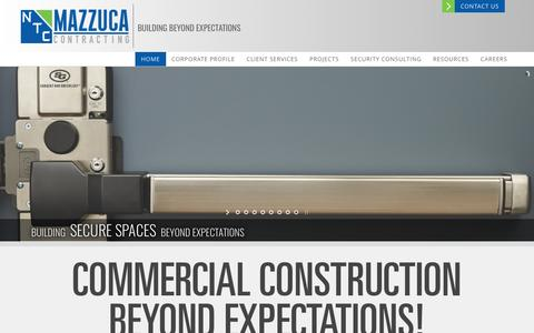 Screenshot of Home Page ntcmd.com - Mazzuca Contracting - captured March 23, 2017