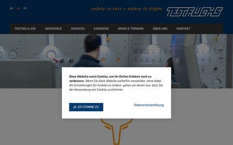 Screenshot of Home Page test-fuchs.com - TEST-FUCHS GmbH - captured Oct. 20, 2018