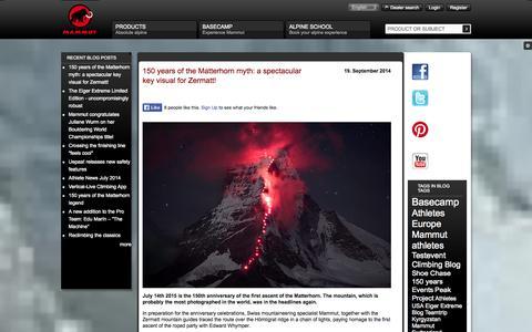 Screenshot of Press Page mammut.ch - - Mammut - captured Sept. 25, 2014