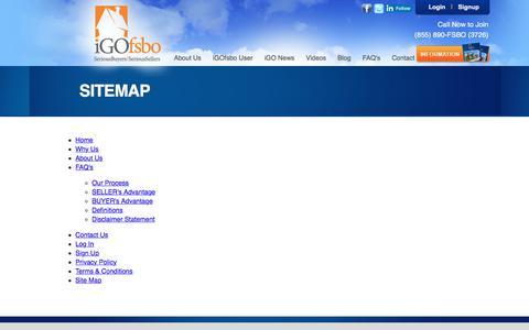 Screenshot of Site Map Page igofsbo.com - iGOfsbo.com   - captured Oct. 18, 2017