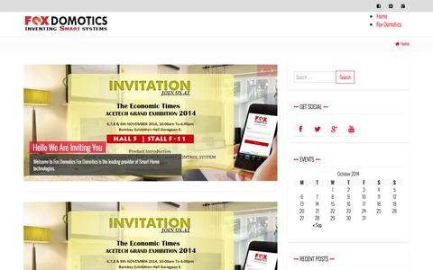 Screenshot of Blog foxdomotics.com - Blog | Just another WordPress site - captured Oct. 30, 2014