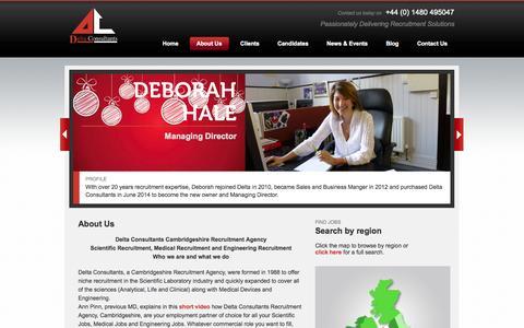 Screenshot of About Page delta-consultants.com - Cambridgeshire Recruitment Agency - Delta Consultants - captured Sept. 30, 2014
