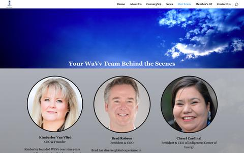 Screenshot of Team Page wavvbizdev.com - Our Team | WāVv - captured Oct. 20, 2018