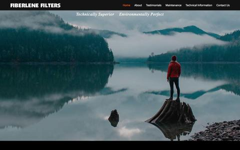 Screenshot of Home Page fiberlene.com - Fiberlene Filters - Technically superior, environmentally perfect - captured Sept. 30, 2014