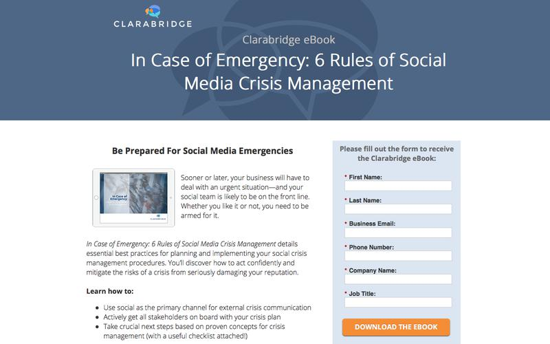 In Case of Emergency: 6 Rules of Social Media Crisis Management