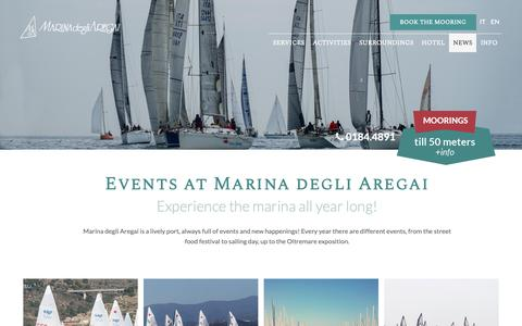 Screenshot of Press Page marinadegliaregai.it - Discover all the Events and the news of Marina degli Aregai |  Marina degli Aregai - captured Dec. 1, 2018