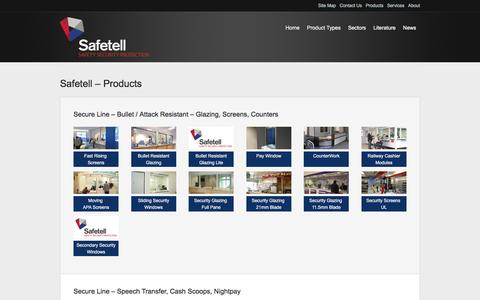 Screenshot of Products Page safetell.co.uk - Links  | Safetell - captured Dec. 20, 2015