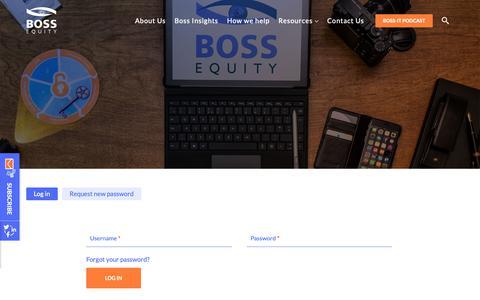 Screenshot of Login Page documentboss.com - User account | Boss Equity - captured Dec. 9, 2018