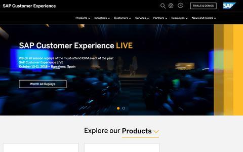 Screenshot of sap.com - CRM | Customer Experience (CX) | SAP Hybris - captured Oct. 29, 2018