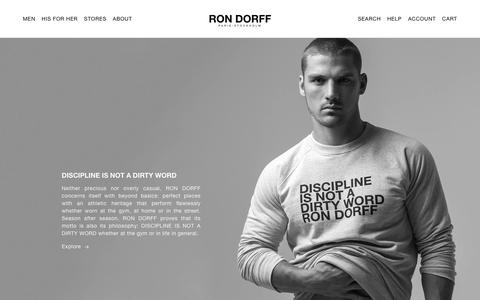 Screenshot of About Page rondorff.com - Our Philosophy – Ron Dorff - captured Oct. 18, 2018